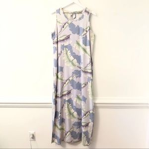 Tommy Bahama Tropical Leaf Maxi Dress L